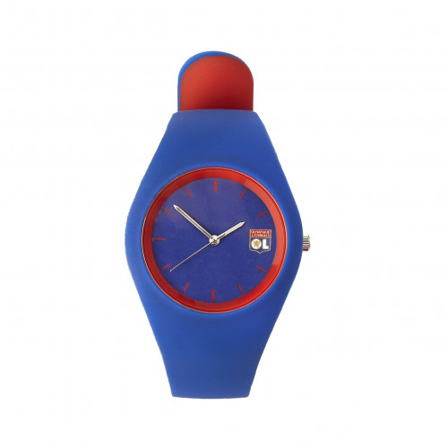 Montre Adulte mixte silicone marine/rouge