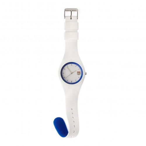 Montre Adulte Mixte Silicone Blanche et Bleu - Taille - Unique