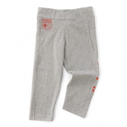 Pantalon 3/4 Fille adidas Essentials Linear Gris Olympique Lyonnais - Taille - 13-14A