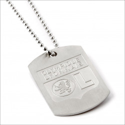 Olympique Lyonnais military plaque necklace