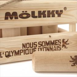 MOLKKY Olympique Lyonnais Jeu de quilles finlandaises