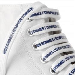 Olympique Lyonnais White Canvas Hi Trainers