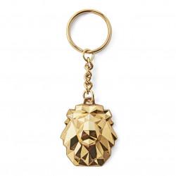 Porte-clés 3D Lion Pop Or
