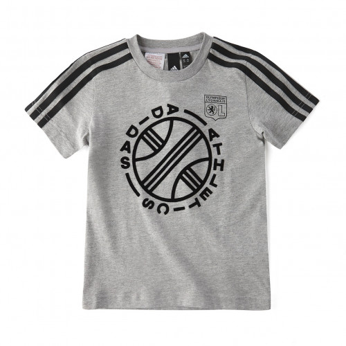 T-Shirt Junior ID GRAPHIC Gris - Taille - 5-6A