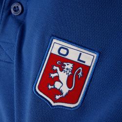 Polo OL bleu royal logo vintage