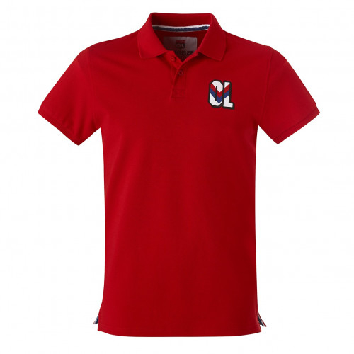 Polo OL rouge logo vintage - Taille - S