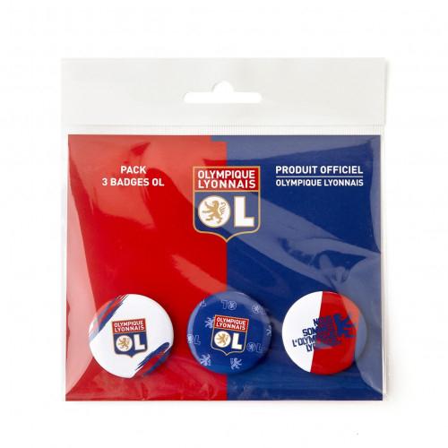 Pack 3 Badges OL - Taille - Unique