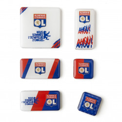 Set 6 magnets Olympique Lyonnais