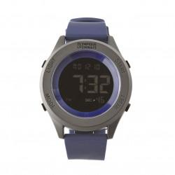 Men's Navy blue silicone bracelet watch