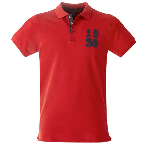 Polo Homme rouge 1950 - Taille - 2XL