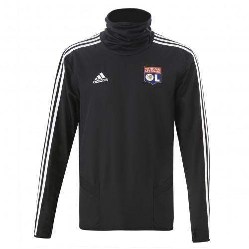 Sweat d'entrainement hiver Noir OL adidas 19/20 - Taille - XL