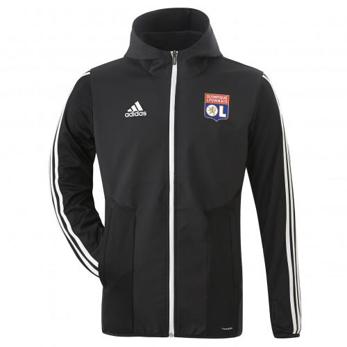 Veste d'entrainement hiver noir adidas Olympique Lyonnais 2019/2020 - Taille - XL