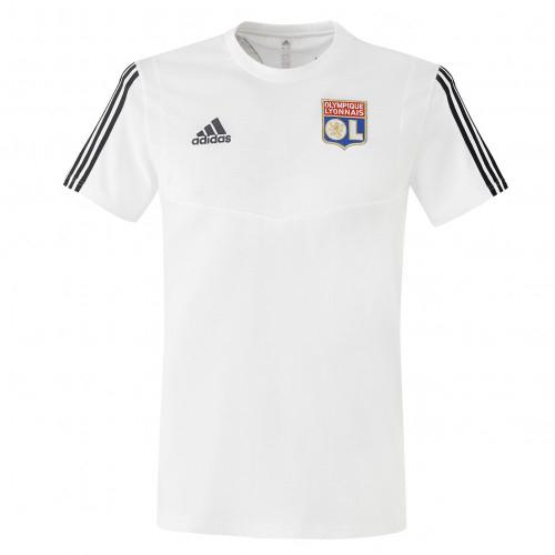 T-shirt de sortie adulte blanc staff OL adidas 19-20 - Taille - XL