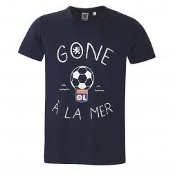 T-shirt Gone à la mer homme bleu