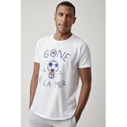 T-shirt Gone à la mer Homme blanc
