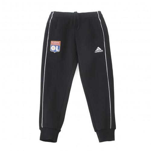 Pantalon détente molleton noir Junior OL adidas 19-20 - Taille - 9-10A