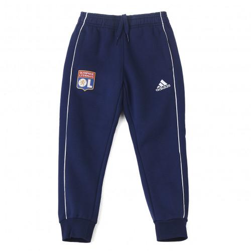 Pantalon détente molleton bleu marine junior OL adidas 19-20 - Taille - 9-10A