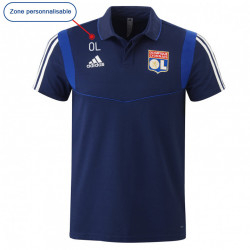 Away junior polo shirt navy blue OL player adidas 19-20
