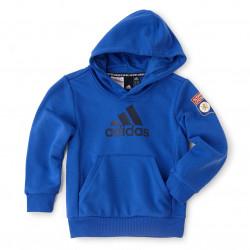 Sweat à capuche Bleu adidas enfant