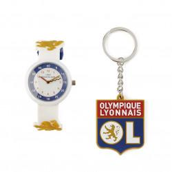 Coffret montre + porte-clés logo junior