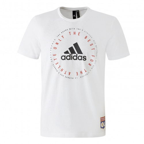 T-shirt Blanc adidas Homme EMBLEM - Taille - XS