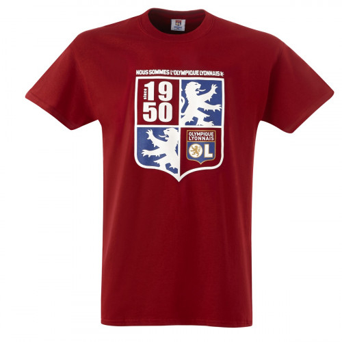 T-shirt Nous sommes l'Olympique Lyonnais Adulte Rouge