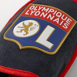 Mules bleu marine et rouge Olympique Lyonnais