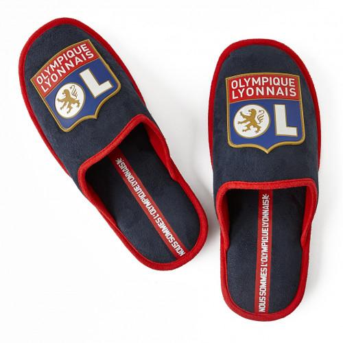 Mules bleu marine et rouge Olympique Lyonnais - Taille - 36