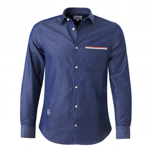 Chemise Lifestyle bleu 1950 - Taille - S