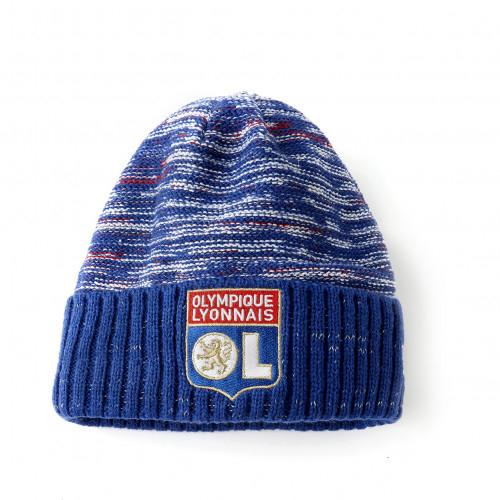 Bonnet New Era bleu Logo OL - Taille - Unique