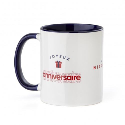 Mug personnalisable Joyeux anniversaire