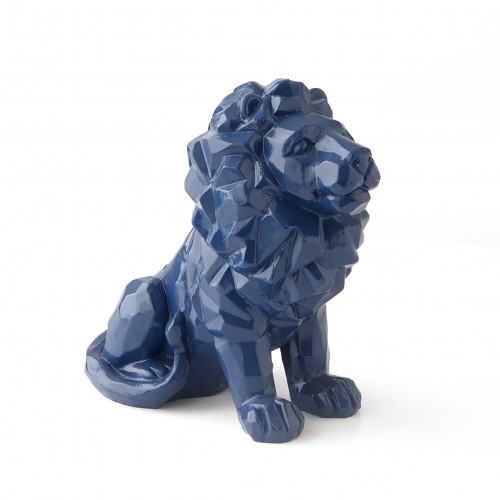 Statue Lion Bleue 16CM - Taille - Unique