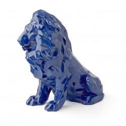 Statue Lion bleu 30CM