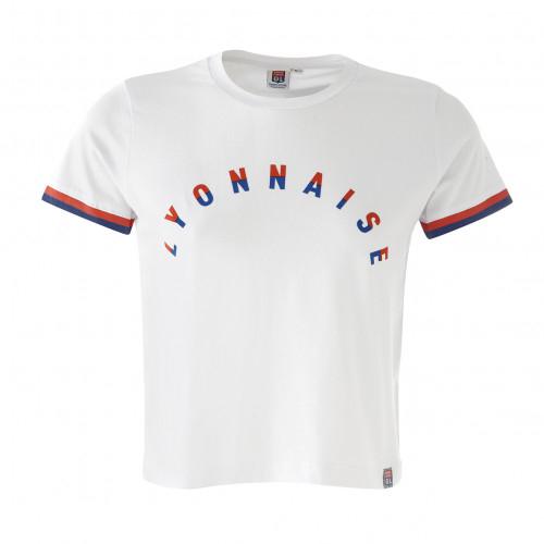 T-shirt blanc manches courtes Lyonnaise - Taille - XL