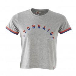 Grey T-shirt with short sleeves Lyonnaise