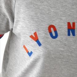 T-shirt gris manches courtes Lyonnaise