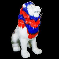 Statue lion 140cm dédicacé