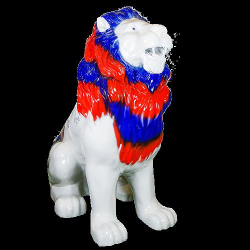 Statue lion 140cm dédicacé par l'équipe masculine - T26 - Noir