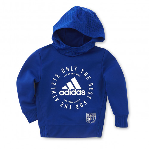 Sweat à capuche adidas bleu junior - Taille - 5-6A