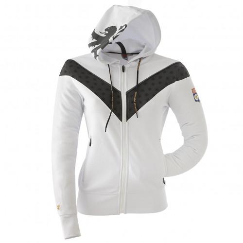 Veste à capuche TrainingTeck blanche Femme