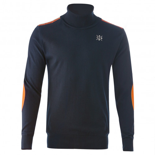 Pull col roulé marine homme 1950 - Taille - XL