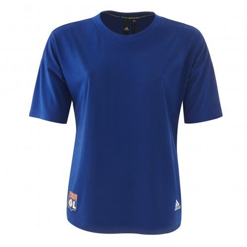 T-shirt bleu 3 bandes adidas femme