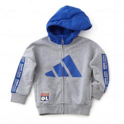 Veste à capuche grise et bleue adidas junior
