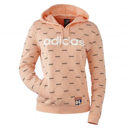 Sweat-shirt à capuche Linera Graphic adidas femme - Taille - XL