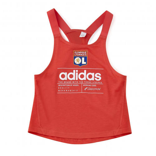 T-shirt adidas fillette sans manche rouge junior