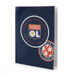 Cahier 21x29,7cm Patch Olympique Lyonnais