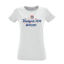 T-shirt femme Vainqueur Coupe de France féminine 2020