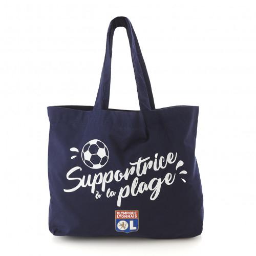 Tote bag de plage supportrice à la plage - Taille - Unique