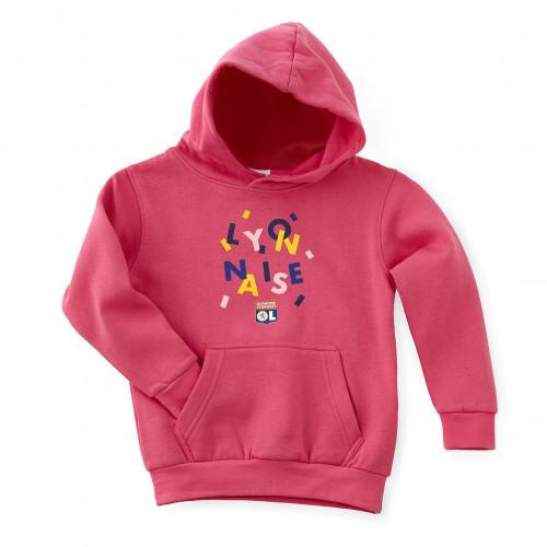 Sweat-shirt rose fillette lyonnaise - Taille - 12-14A