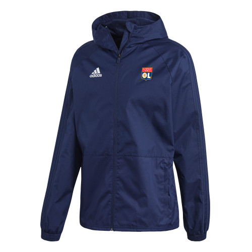 Coupe vent bleu marine adidas 19/20 - Taille - XS